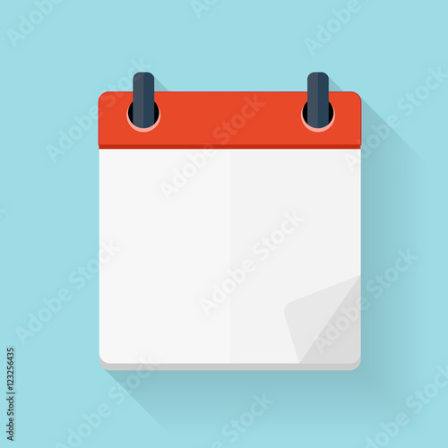 Cuadros en Lienzo Calendar Flat Daily Icon Template. Vector Illustration Emblem. E