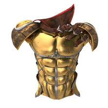 Roman Armor 3d Illustration Isolated On White Background