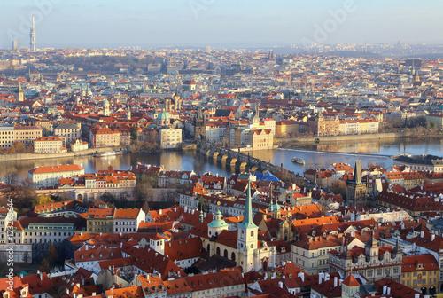 Fotobehang Praag Panoramic view from Prague, Czech Republic