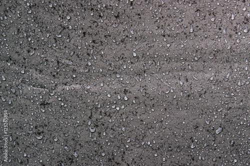 Fotografía  Textura de gotas de agua sobre lona