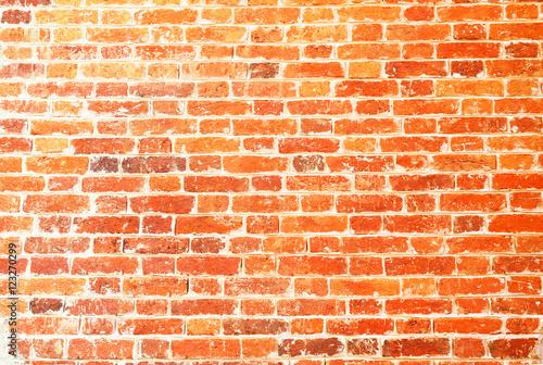 Photo sur Toile Brick wall Beautiful red brick wall