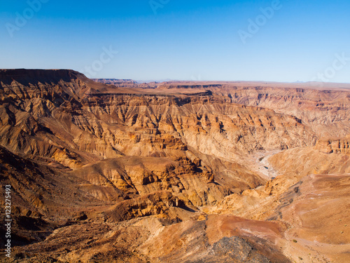 Foto op Canvas Australië Dry and rocky Fish River Canyon in southern Namibia. The largest canyon in Africa and the second most visited tourist attraction in Namibia.