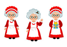 Happy Mrs. Claus. Illustration.
