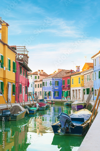Poster Venise Colorful houses in Burano, Italy.