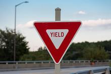 Yield Sign On Bridge