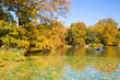 Central Park in New York City on colorful autumn day