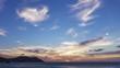 Time lapse of Beautiful sunset over ocean, Fukuoka prefecture, Japan