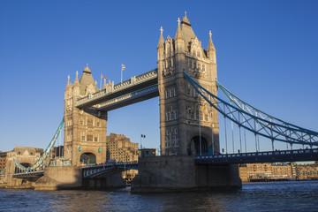 Fototapeta na wymiar Tower Bridge southwestern partial view