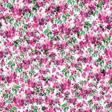 Watercolor Vintage Seamless Pattern Of A Vegetative Pattern, Berries, Leaves, Pink And Green