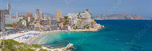 Panorama of scenic bay in Benidorm