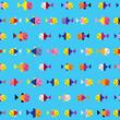 fish underwater sea seamless pattern