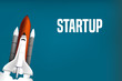 Rakete Startup Konzept