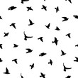 Seamless vector background with birds silhouettes.