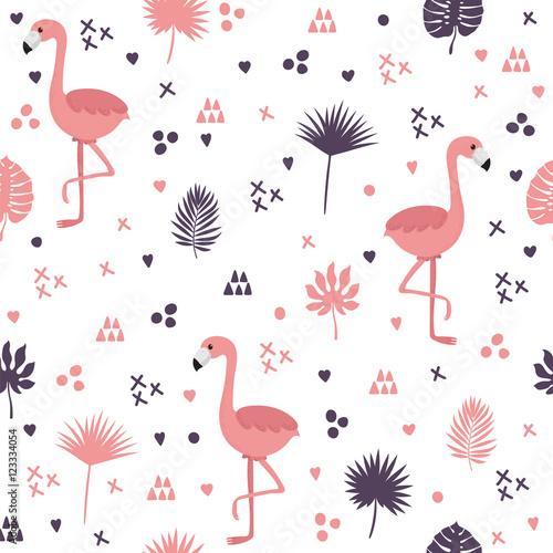 bezszwowy-wzor-z-flamingami-i-liscmi-sliczne-tlo-z