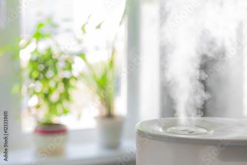 Humidifier spreading steam Canvas Print