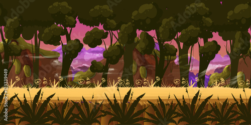Photo  Dark Forest vector Background