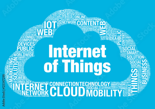 Internet of Things cloud computing vector wordcloud concept illustration