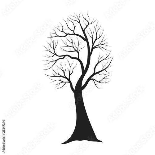 Fototapeta Tree silhouette isolated illustration obraz na płótnie