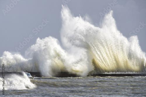 Fotografía vague tempête en Bretagne