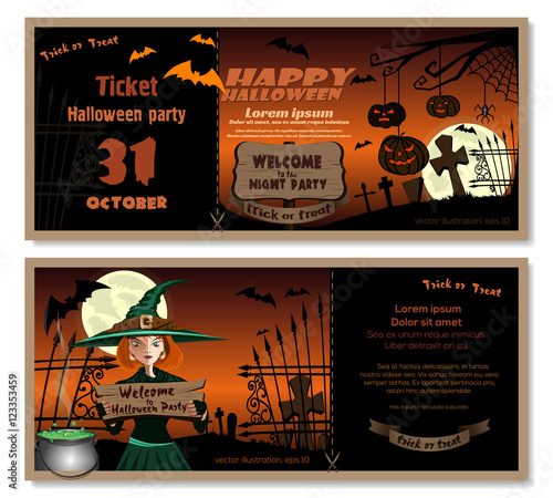 Halloween Design Template Flyer Invitation For Halloween Night