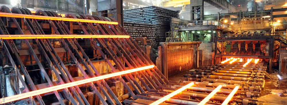 Fototapeta Stahl- und Walzwerk // steelworks