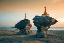 Two Twin Pagodas, Burma