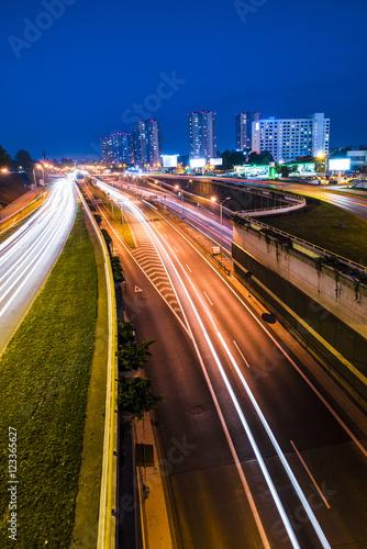 Obraz Nocny widok na Katowice, Śląsk - fototapety do salonu