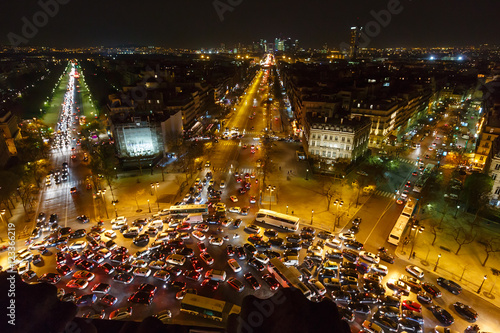 View from Triumphal Arch, Paris, France. Wallpaper Mural