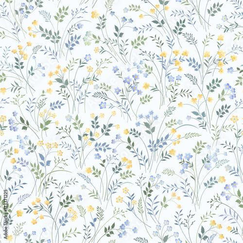 wzór kwiatowy łąka