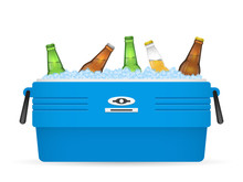 Ice Cooler Or Beer In Box Vect...