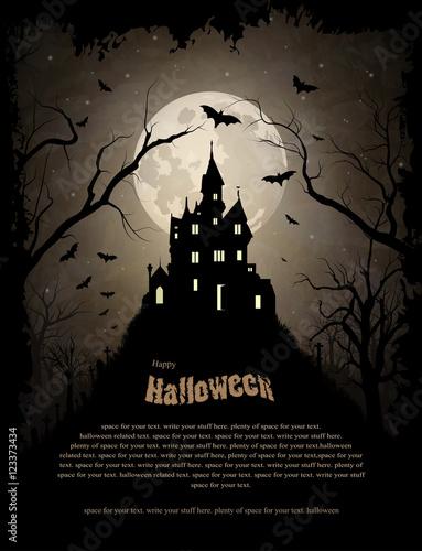 Leinwand Poster Creepy castle