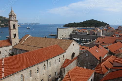 Photo  Old town and sea scene Dubrovnik, Croatia