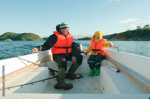 Tuinposter Water Motor sporten Boat riding lesson