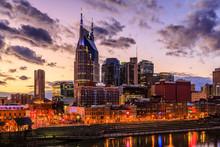 Nashville Tennessee Skyline Sunset