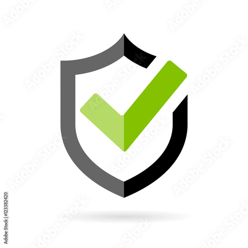 Photo  Strong protection tick shield icon