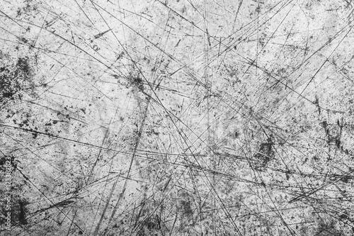 Fotografie, Tablou  Gray scratched metal surface.