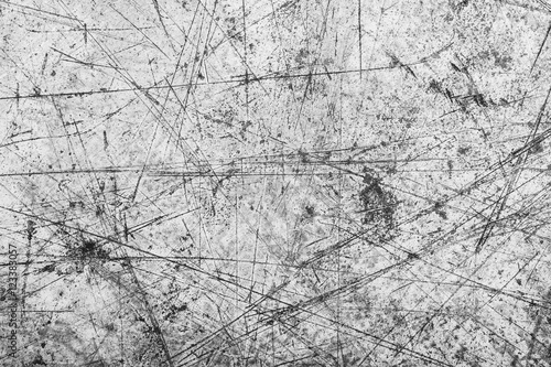 Fotografía  Gray scratched metal surface.