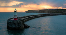 Port Of Newhaven At Sunset