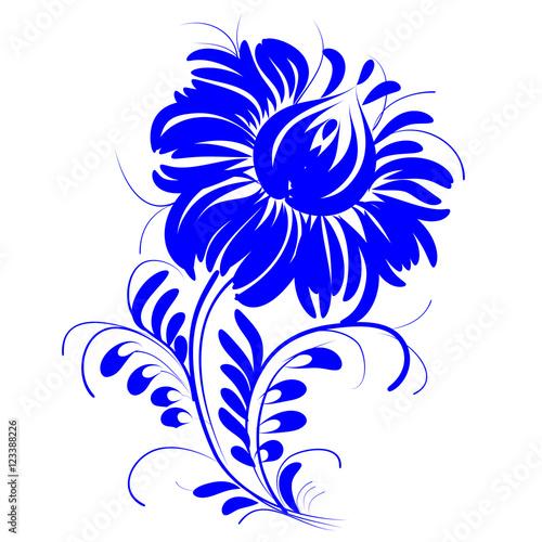 932ba465 Obrazy na ścianę drukowane na płótnie romantic painting flower blue ...