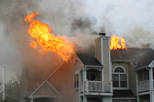 Photo Apartments on fire