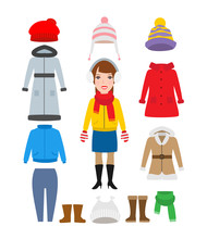 Woman Winter Warm Clothes Set ...