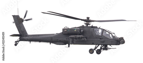 Photo LEEUWARDEN, THE NETHERLANDS - JUN 11, 2016: Boeing AH-64 Apache