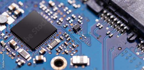 Obraz na plátně  Integrated semiconductor microchip
