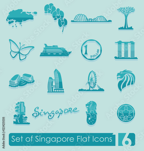 Photo  Set of Singapore icons