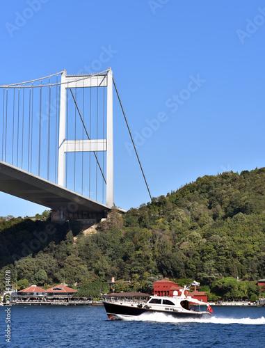 Stampe  Fatih Sultan Mehmet Bridge also known as the Second Bosphorus Bridge is a bridge