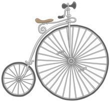 Old Vintage Bicycle With A Big Wheel