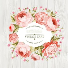 Pink Peony With A Vintage Labe...