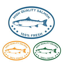 High Quality Salmon Label