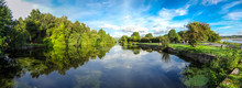 Panoramic View Of Ulverston Canal, Cumbria