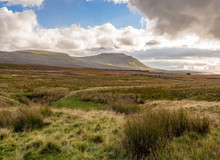 Approaching Storm And Rain Over Ingleborough At Ribblehead, Settle, North Yorkshire, UK